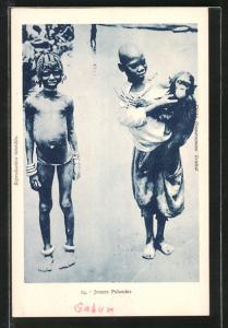 AK Gabon, Jeunes Pahouins, Jungen mit Affe