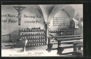 AK Stans, Innenansicht der Totenkapelle