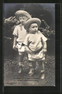 AK Kronprinz Wilhelm von Preussen und Kronprinz Louis Ferdinand von Preussen als Kinder
