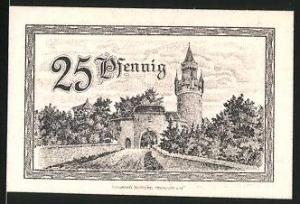 Notgeld Friedberg (Hessen) 1920, 25 Pfennig, Stadttor