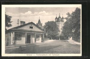 AK Schwäbisch-Gmünd, Fünfknopfturm mit Torhäusle