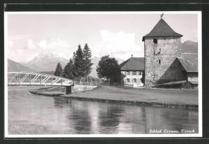 AK Uznach, Brückenpartie am Schloss Grynau