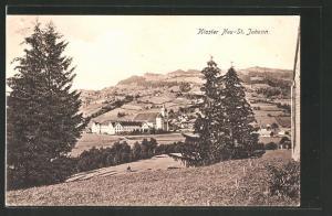AK Neu St. Johann, Ortsansicht mit Kloster