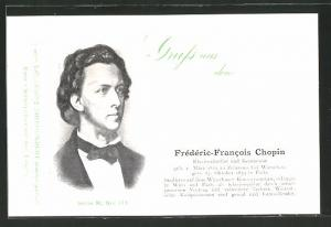 AK Frédéric-Francois Chopin, Klavierkünstler und Komponist