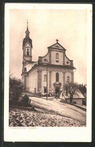 AK Ruswil, Pfarrkirche im Winter