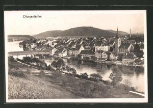 AK Diessenhofen, Ortspartie am Fluss