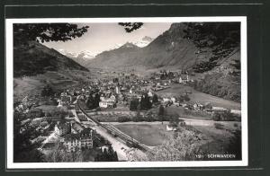 AK Schwanden, Panoramablick auf den Ort
