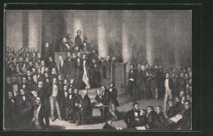 AK Frankfurt, Revolution 1848, 1. Dt. Nationalversammlung, Ganzsache PP 65 C 1 / 02