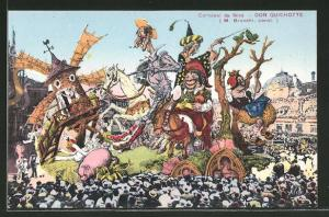 AK Nice / Nizza, Carnaval, Don Quichotte, Umzug