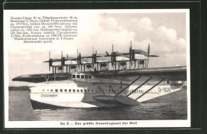 AK Dornier Do X, das grösste Wasserflugzeug der Welt
