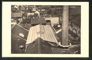 AK Siegburg, Sieg-Rheinische Germania-Brauerei, Eindeckung des neuen Kesselhauses