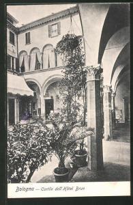 AK Bologna, Cortile dell` Hôtel Brun