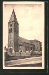 AK Gavere, De Kerk, Partie mit Kirche