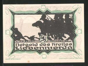 Notgeld Liebenwerda 1921, 50 Pfennig, die ersten Kosaken 1812