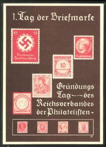 AK 7. Januar 1936, 1. Tag der Briefmarke, , Ganzsache