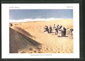 AK Westafrika, Diamantengewinnug bei Kolmanskop
