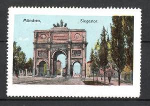 Reklamemarke München, Strasse zum Siegestor
