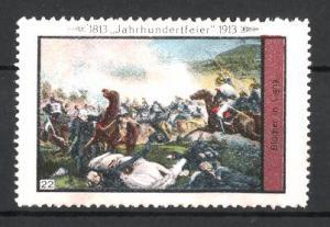 Reklamemarke Befreiungskriege, Jahrhundertfeier 1813-1913, Blücher in Ligny