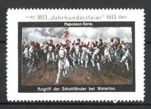Reklamemarke Befreiungskriege, Jahrhundertfeier 1813-1913, Angriff der Schottländer bei Waterloo