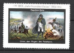 Reklamemarke Befreiungskriege, Jahrhundertfeier 1813-1913, Unter den Augen des Feldherrn