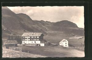 AK Mörel, Blick zum Hotel Riederalp