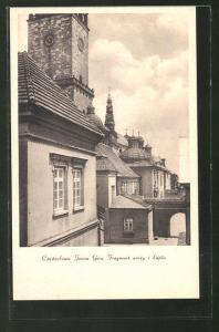 AK Tschenstochau-Czestochowa, Jasna Gora, Fragment wiezy i kaplic