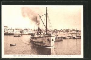 AK Quiberon, le bateau de Belle-Ille au départ de Port-Maria
