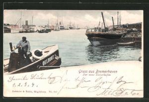 AK Bremerhaven, der neue Kaiserhafen