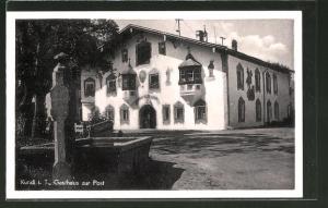 AK Kundl i. T., Teilansicht vom Gasthaus zur Post