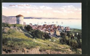 AK Durazzo / Durce, Blick auf den Küstenort