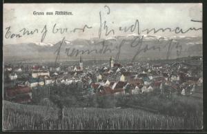AK Altstätten, Ortspanorama vom Berg aus gesehen