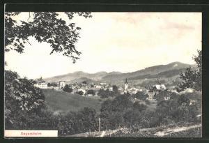 AK Degersheim, Ortsansicht mit Bergpanorama
