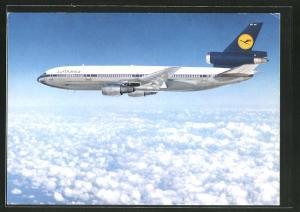 AK McDonnell Douglas DC 10 der Lufthansa über den Wolken