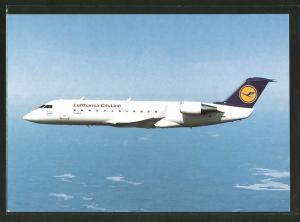 AK Flugzeug Canadair Jet der Lufthansa CityLine im Flug