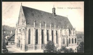 AK Schwäbisch Gmünd, Ansicht der Heiligkreuzkirche