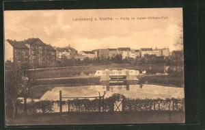 AK Landsberg / Gorzow Wlkp, Partie im Kaiser Wilhelm-Park