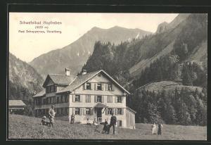AK Schoppernau, Gasthaus Schwefelbad Hopfreben