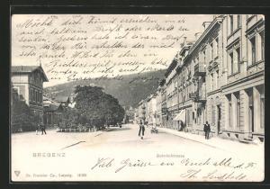 AK Bregenz, Blick in die Bahnhofstrasse