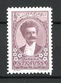 Reklamemarke Komponist Johann Strauss