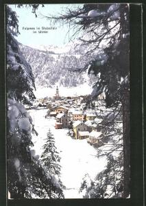 AK Fulpmes / Stubaitale, Ortsansicht im Winter
