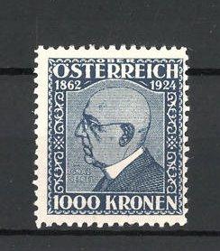 Reklamemarke Österreich, 1000 Kronen Männerporträt 1862-1924