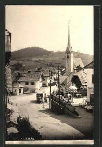 AK Abtenau, Strassenpartie mit Kirche