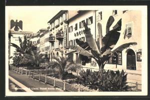 AK Lienz,  Platz, Hotel Traube und Bananenstaude