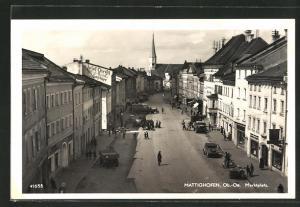 AK Mattighofen, Marktplatz aus der Vogelschau