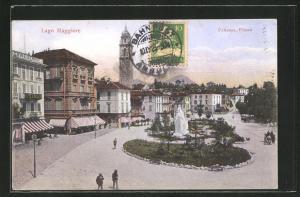 AK Pallanza, Piazza, Partie am Denkmal