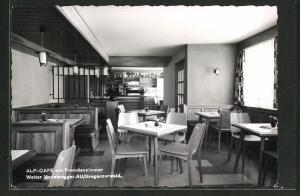 AK Au, Alp-Café mit Fremdenzimmer von Walter Moosbrugger, Innenansicht