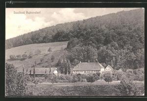 AK Bubendorf, Blick auf Gebäude und bewaldete Hänge