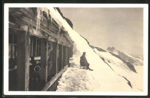 AK Jungfraujoch, Station im Winter