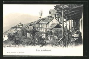 AK Brione, Teilansicht mit Turm