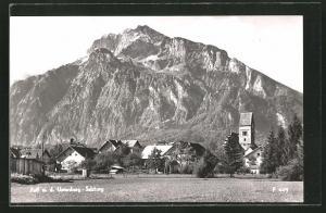 AK Anif, Panorama mit Untersberg